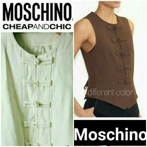 Moschino Tops - 🎉MOSCHINO🎉 Short Fitted Vest