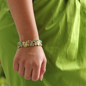 Jewelry - Green And Turquoise Gem Stone Bracelet