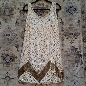 VINTAGE SEQUIN SHIFT DRESS