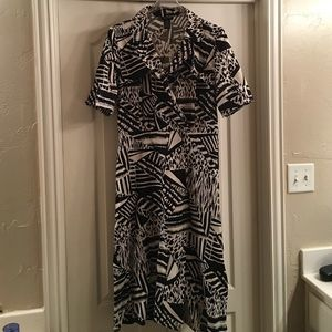 Spense Dresses & Skirts - Black and ivory print a-line dress from steinmart