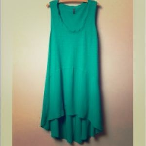 Anthropologie high low tunic green