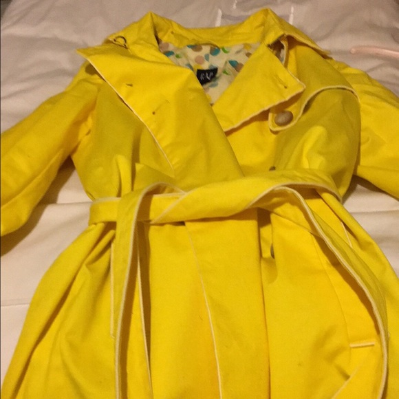50% off GAP Jackets & Blazers - Gap yellow raincoat polka ...