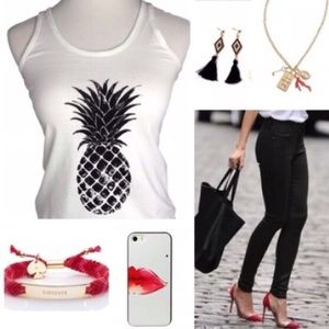 Iconic Legend Tops - The Alani Pineapple Racerback Tank Top