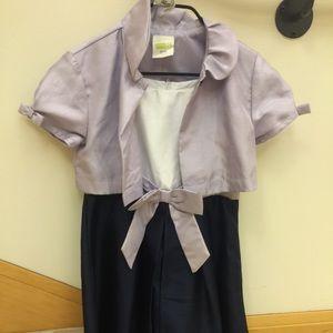 👸GIRLS - 1 piece satin dress- size 7-8