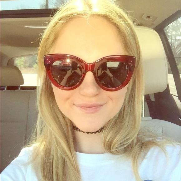 5b75db1fe63 Celine Accessories - Authentic CÉLINE Red Cat Eye Sunglasses BRAND NEW