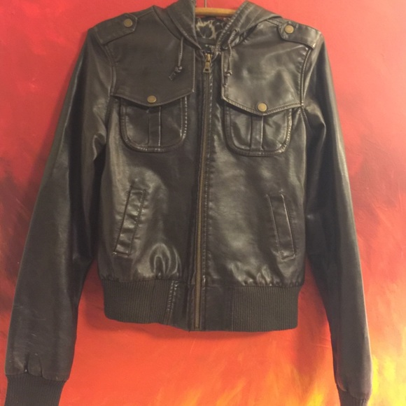 DNA Couture Jackets   Blazers - 🌻FINAL SALE🌻DNA Couture 🐆 Vegan Leather  Jacket b4f7c97d29ec7
