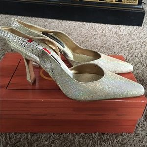 Fantasy Collection  Shoes - Stunning iridescent heels & matching purse