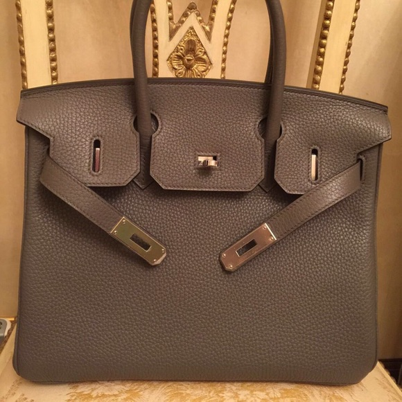 c2a8f1122 Hermes Birkin 30 Togo Etoupe PHW with Receipt. Boutique. Hermes. $13,450  $7,454. Size
