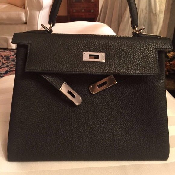 21e1cb47a42d Hermes Kelly 28cm TC PHW Plomb with Receipt