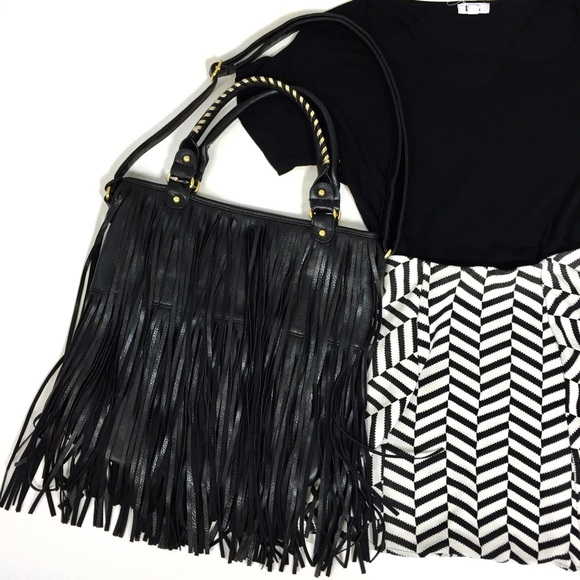 Handbags - Fringe Tote Bag