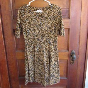 Cutout cheetah dress