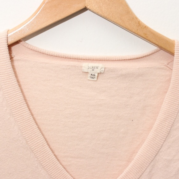 74% off J. Crew Sweaters - J.Crew Pale Pink Knit Slouchy V Neck ...