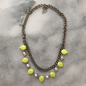 H&M neon statement necklace