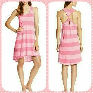 Swim or Sleep Pink Striped Tank Dress NWT