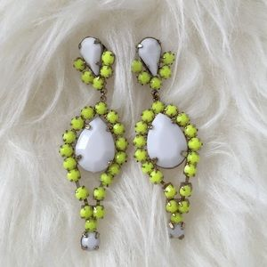 H&M neon drop earrings
