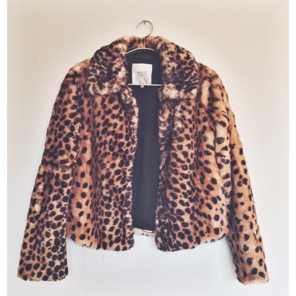 Zara - Leopard print fur coat from Myriah's closet on Poshmark