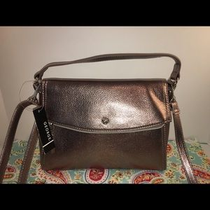 NWT Copper Metallic Top Handle/Crossbody Bag