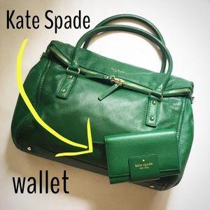 kate spade Handbags - 🍀SALE!🍀 Green Kate Spade Cobble Hill Wallet