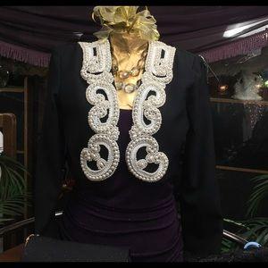 9496b023 Vintage Jackets & Coats - Vintage Bari-Jay Pearl Sequin Bolero Jacket Size 4