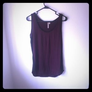 Thyme Tops - Burgundy and black color block tank