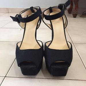 Zara Black Ankle Strapped High Heels