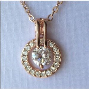 Haloed Faux Diamond Necklace