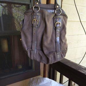 Hype Gray Shoulder Handbag.
