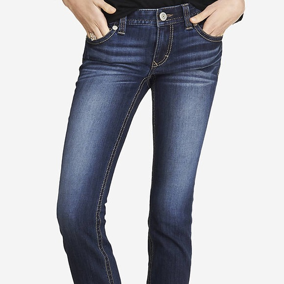 86% off Express Denim - Express Stella Low Rise Skinny Jeans Sz 4 ...