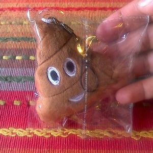 Other - NEW Poop Emoji Keychain 3""