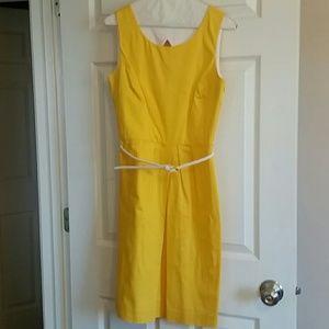 Calvin Klein Yellow Spring Dress