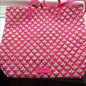Vera Bradley Day Tote in Petite Pink NWT