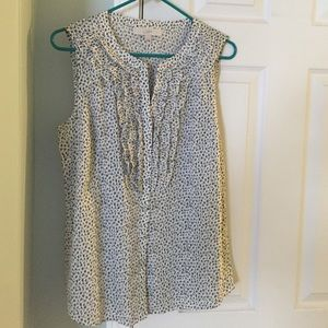 Loft sleeveless blouse