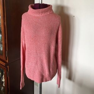Coral Turtleneck Sweater XS New NWT