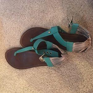 Steve Madden Turquoise Sandals