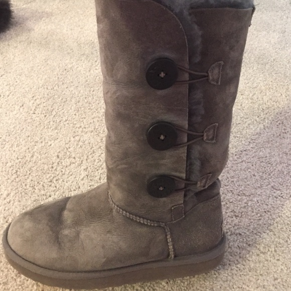 UGG Shoes - Tall grey 3 button uggs