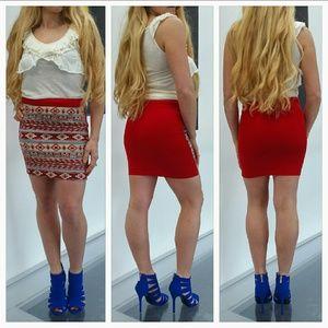 Dresses & Skirts - 💋🆕 Aztec print skirt NWOT