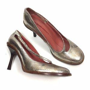 Eileen Shields Shoes - Eileen Shields Metallic Strappy Heels 8.5