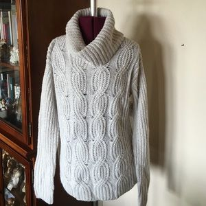 Cable Knit Turtle Neck Sweater New NWT