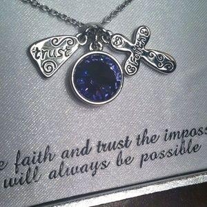 """PRICE DROP💥Trust""""&""""Faith"""" Necklace"""