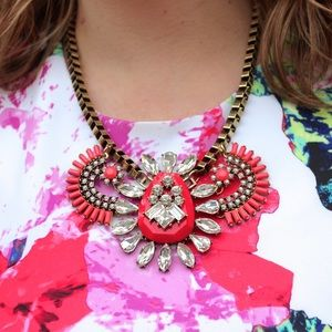 Dress Barn Jewelry - coral dressbarn statement bib necklace