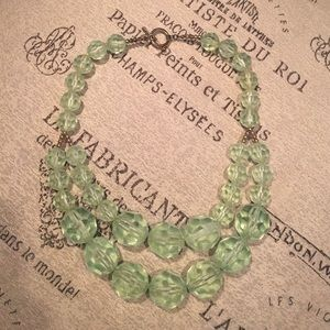 H&M Jewelry - mint bead statement bib necklace