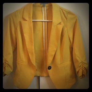Mustard colored blazer