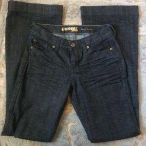 Express Jeans - EXPRESS Dark Jeans EVA Fit & Flare