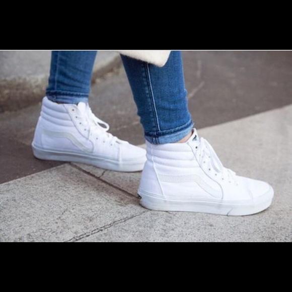 vans high tops womens white