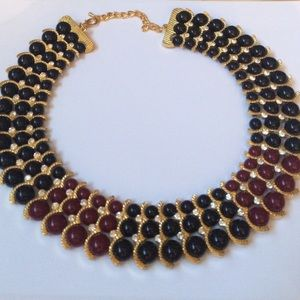 Iman Jewelry - Iman Beaded collar necklace