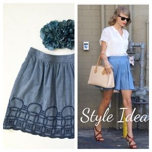 GAP Dresses & Skirts - Chambray Short Cotton Skirt