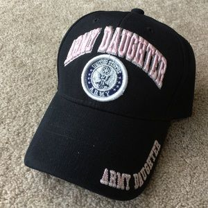 Black and pink Army daughter hat adjustable