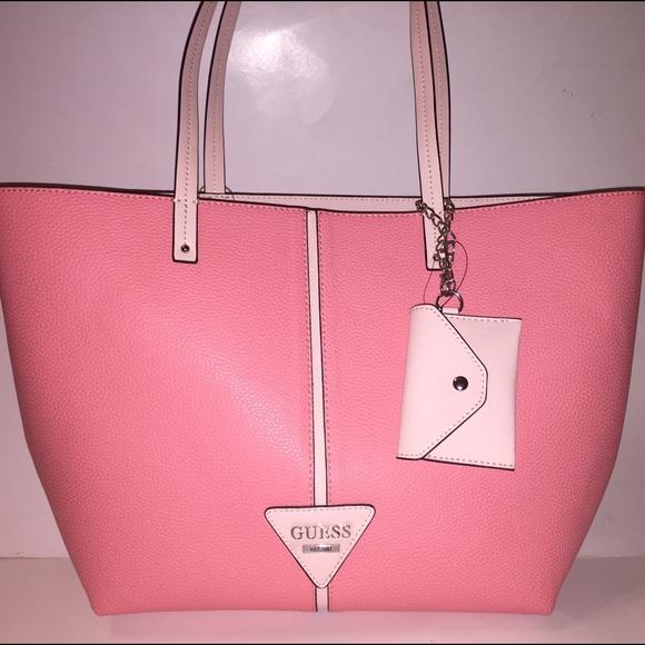 Guess Bags | Pink Seeet Home Large Tote Handbag