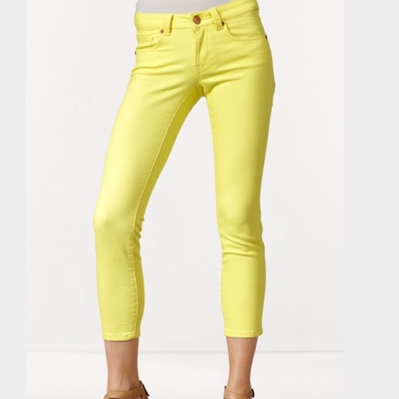 77% off CAbi Denim - CAbi yellow skinny jeans. from Molly's closet ...