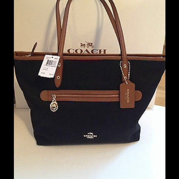 0346c68436 Authentic Coach Sawyer Canvas Tote